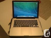 "I am selling my beloved Macbook Pro 13"". The machine is"