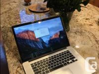 """Like new hardly used MacBook Pro Retina 15"""" 2013 model."""