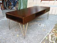 COFFEE TABLE Madden design, lightly used, walnut stain,