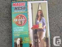 Magic Mesh door cover - new - Never ever utilized -