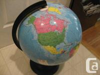 Magnetic World Globe jigsaw puzzle, 15 inch in