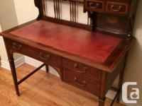 Antique Mahogany Writing Desk - Edwardian Sheraton