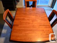 REDUCED!!!Beautiful mahogany dining room table and 4