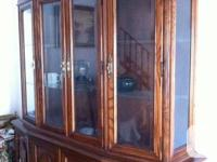 We have a mahogany dining table & china cabinet & hutch