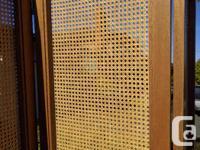 Up for sale beautiful mahogany 3 panel screen. Custom