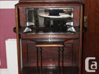 """Solid wood mahogany """"What-Not"""" from early 1900's."""