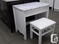 """SALE !! 30 """" make up table with stool made of solid"""