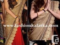 Malaika arora khan style saree at lakme fashion week