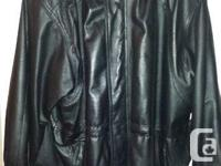 Men's XXL Natural leather Coat very warm and