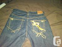 Brand New men's Rocawear denims, they are a dark blue,