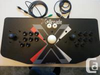 X-Arcade Tankstick + Trackball: USB Included USE WITH
