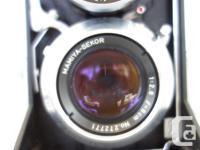 Mamiya Mamiyaflex TLR 80mm f2.8 lenses, taking and