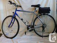 Man's hybrid bike, 21inch frame, 21 gears, excellent