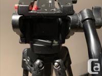 501HDV fluid head, 351MVCF carbon fibre 2-stage tripod,