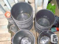 I have many like new flower pots, buckets, planters,