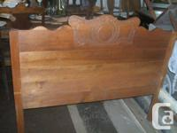 Very nice  maple bed  refinished with hand rubbed