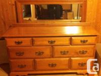 Complete dimension 8 cabinet Roxton solid maple dresser