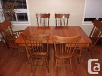 Solid Maple Dining Set. Table and 6 chairs. Table