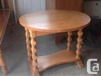 solid maple dropside coffee table with lower tier.in