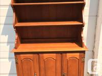 Maple sideboard and hutch, solid wood, great size for