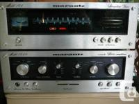 VINTAGE MARANTZ 1040 AMP AND 104 TUNER. WORKING WELL,