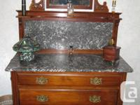 3-drawer bedroom dresser,marble top with matching