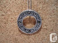 This is a Very Pretty Vintage Marcasite Necklace with