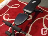 Flat, incline and upright adjusting bench. In good