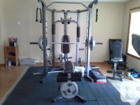 Multi exercise home gym. Bought new from costco this