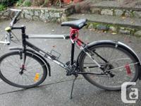 Marin hybrid bike (in-between a mountain & road bike).