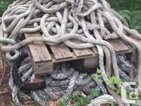 "one lot of marine rope 1.0"" to 2.5"" heavy duty rope."