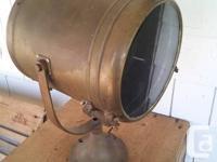 "Antique metal Perko Marine ships 10"" diameter limelight"