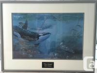 "Framed and matted print ""The Chase"" by Mark Hobson."