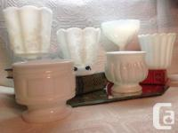 Huge variety of Beautiful Vintage Milk Glass vases,