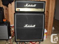 Marshall TSL 100w new tubes comes with 1960a cab and 5