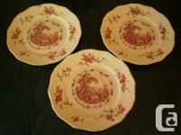 available for sale 3 plates from the masons watteau