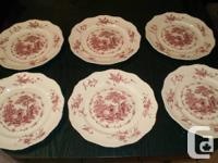 available is 6 dinner plates no trim that are 10 3/4 in