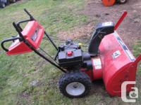 Electric start, 10 hp Tecumseh engine, 30 inch auger,