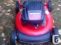 Mower is in great condition, has had a tune up and