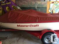 Great condition 1990 mastercraft prostar 190 red and