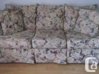 Matching chesterfield, love seat, and four decorator