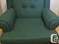 Matching chesterfield, sofa chair and pillow set. Dark