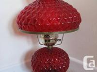 Fenton Diamond Quilt Pattern Gone With the Wind Lamps.