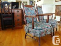 Hard to find pair of matching slipper chairs, in great