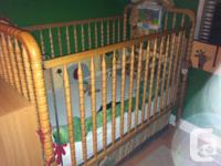 Selling my crib and change table change pad included,