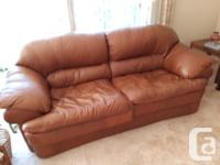 Leather sofa and love seat. Very good condition.