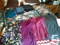 Lot#1 : 4 pairs of dress pants (2 black, 2 grey) $25