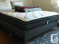6 months old Queen size bed with free duvet. Condition