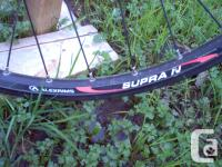 Mavic rim has been relaced but not trued. laced to a