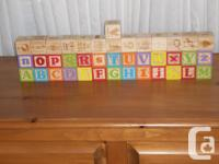 DELUXE ENGRAVED ABC BLOCKS - Help your child learn the